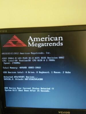 我家电脑开不了机出现英文!求大神解!!