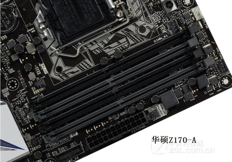 华硕Z170-A 这款主板设计了2组 DDR4内存插槽,如果需要使用2条8G内存条的话,建议将两条内存条分别插到相同颜色的内存插槽内,都是黑色或灰色的插槽内,这样还可以开启内存双通道。 如果将两条内存分别插入了一条黑色 和 一条灰色内存插槽,那就无法开启内存双通道,只是使用了16G的内存容量而已。